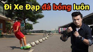 Thử Thách bóng đá sút Penalty qua xe đạp nhận đồng hồ Bùi Tiến Dũng U23 Việt Nam