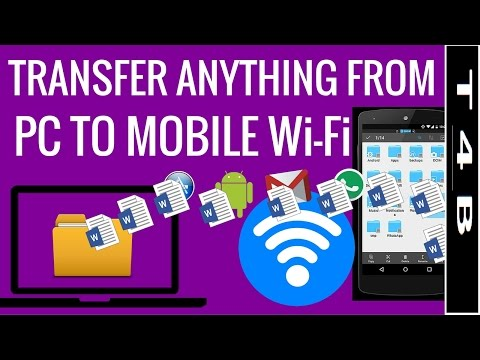How To Transfer Files PC to Android & Android To PC phone using WiFi Without LAN Cable