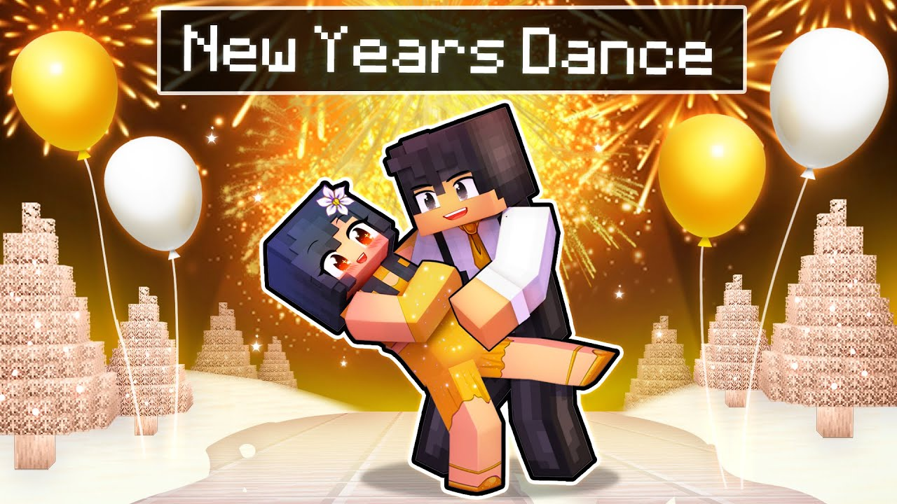 Our First NEW YEARS DANCE In Minecraft!