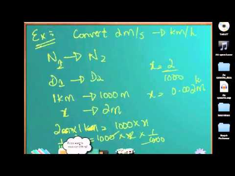 Units Lect 4 - Converting km/h to m/s and vice versa