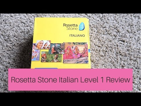 Rosetta Stone Italian Level 1 Review