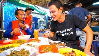 Lao Street Food - GIANT STICKY RICE Feast and Stuffed Chili Fish in Vientiane, Laos!