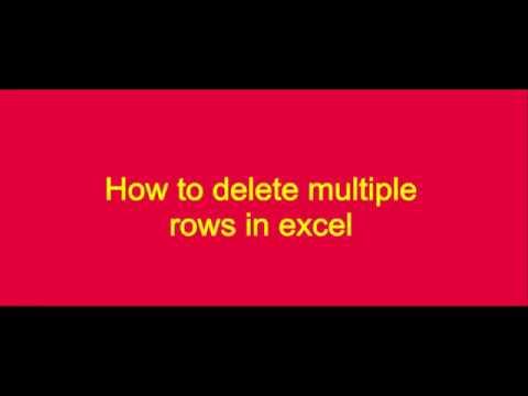 Excel Mudah -delete multiple rows in excel