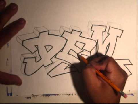 Learn How To Draw Graffiti graffiti name  - Tutorial easy