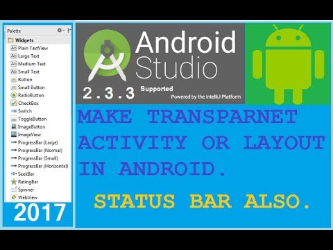 how to make transparent activity in android - Change status bar color in android. Leading Way