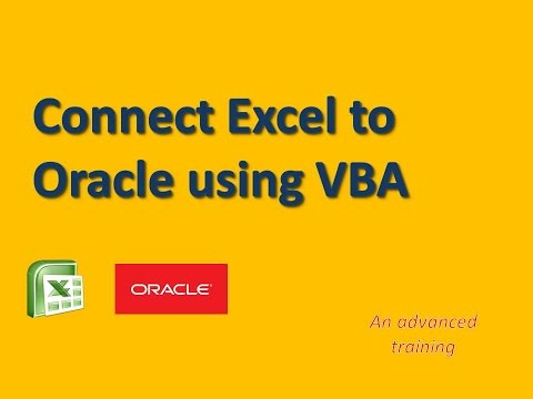 How to connect Excel to Oracle with VBA