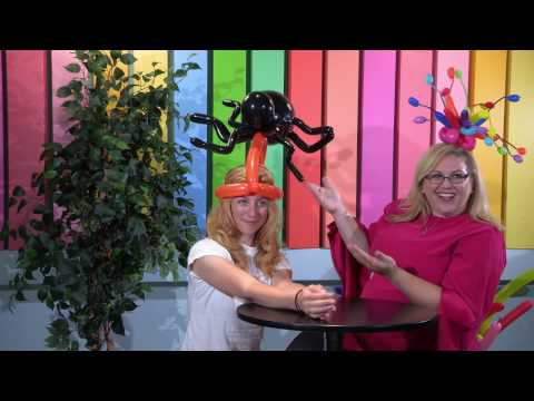 Balloon Spider Hat - Balloon Animals Tutorial
