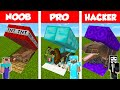 Minecraft NOOB Vs PRO Vs HACKER SECRET DINOSAUR BASE CHALLENGE In Minecraft Animation
