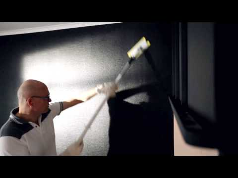 Roller spackle a wall