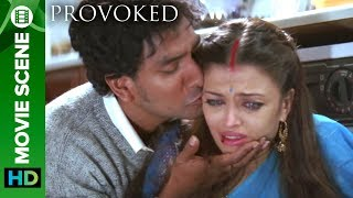 The First Hit On Kiran   Aishwarya Rai And Naveen Andrews   Hollywood Movie Provoked Hindi Dubbed