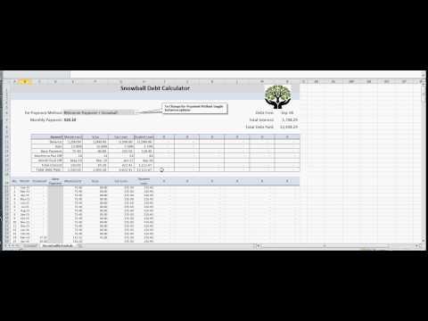 Debt Repayment Plan - Snowball Method