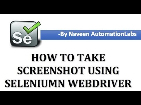 How to take Screenshot in Selenium || Interview Question