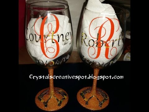 start to finish personalized wine glasses