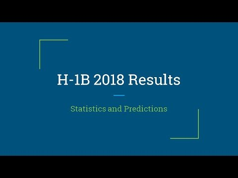 H-1B 2018 Results: Statistics and Predictions
