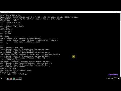 Learning Python 008: Function keyword arguments and variadic arguments