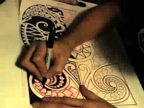finishing polynesian tattoo pt 2
