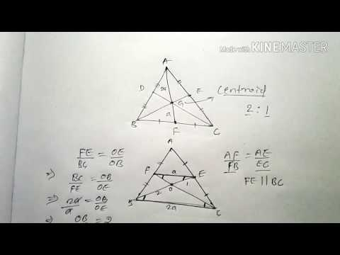 MEDIAN AND CENTROID OF A TRIANGLE || SOME PROPERTIES || HINDI