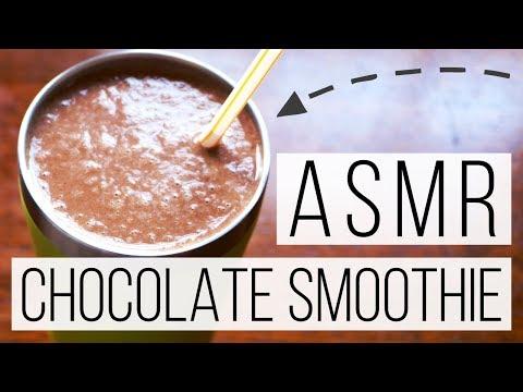 Delicious Healthy Chocolate Smoothie Recipe ASMR   Whisper