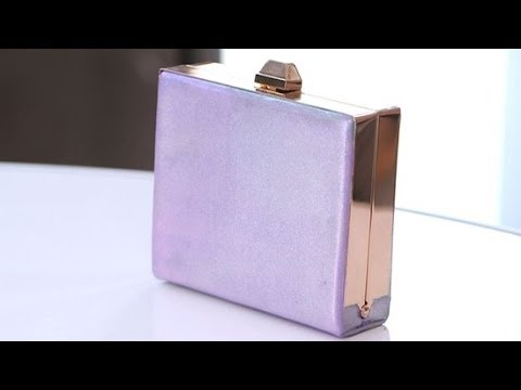 How to Make Your Own Metallic Clutch | Designer DIY