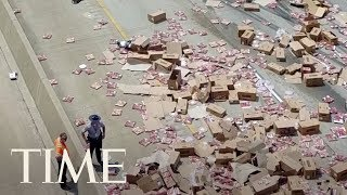 Pizza Truck Spills Boxes Of Pizza Across Interstate In Arkansas, Making A Slippery Situation | TIME