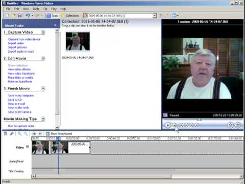 Trimming out video clip mistakes in Windows Movie Maker