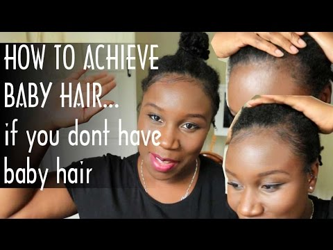 HOW TO LAY BABY HAIRS... When you don't have baby hairs   4C HAIR   tutorial