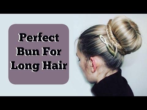 Perfect Bun For Long Hair | DIY Hairstyle | Heatless Hair Tutorial