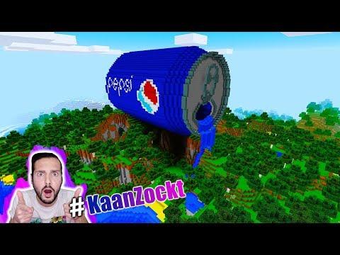 PEPSI LUCKY BLOCK BATTLE! Kaan reagiert auf riesige Pepsi Dose in Minecraft! Deutsch #KaanZockt