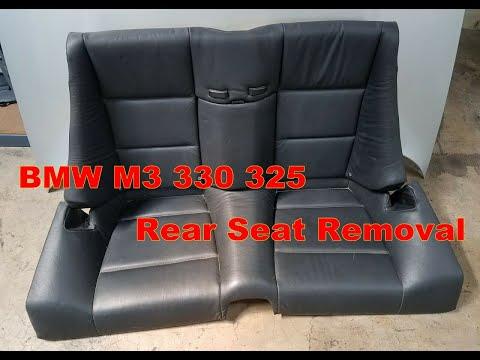 Bmw E46 330ci 325ci Rear Seat Removal Convertible Model