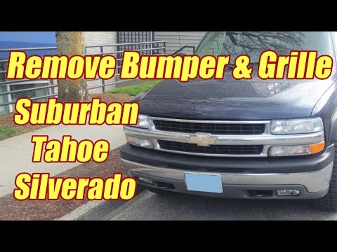 How to Replace the Front Bumper on Suburban, Tahoe, Silverado 1999 - 2006
