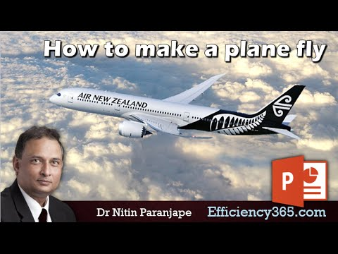 PowerPoint: How to make a plane fly using Remove Background and Motion Path