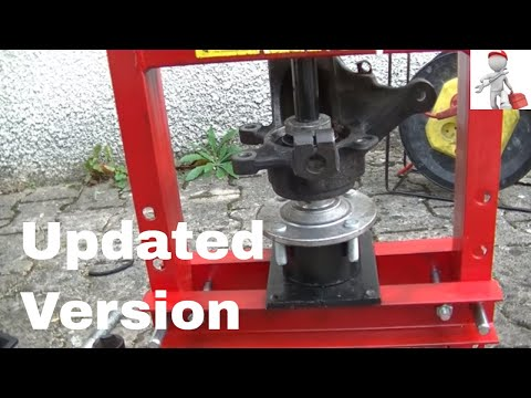 How to replace a wheel bearing with a cheap 6 ton press