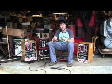 Demo of 3 Century AC/DC Arc Welders and Powr Kraft Stick Welding Machines 00023