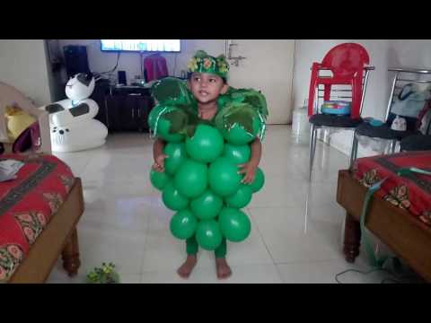 My Lil Daughter HIYAA As A Grapes In Fruit Fancy Dress Competition