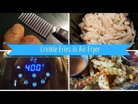 Crinkle Fries in Air Frier
