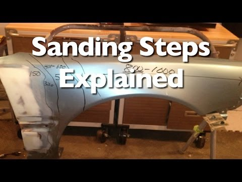 Sanding Steps To Prep A Car For Paint and Clear