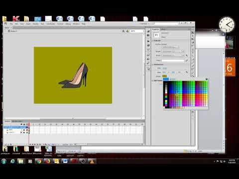 how to change background color in flash cs6