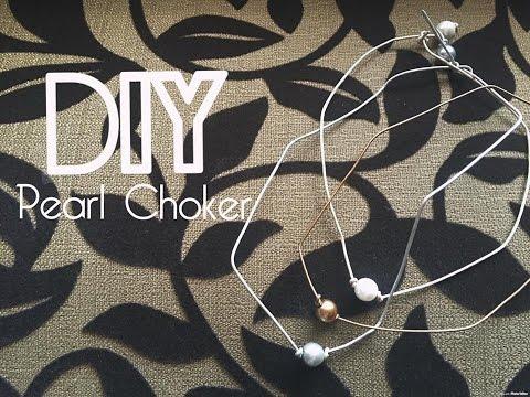 Easiest DIY  | Pearl Choker