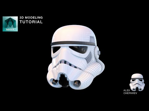 Star Wars Stormtrooper Helmet Modeling in Maya - Part 1