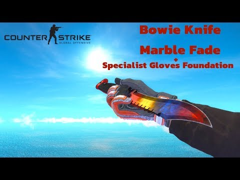 CSGO | Bowie Knife Marble Fade + Specialist Gloves Foundation SKIN COMBO
