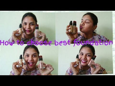 How to choose best foundation for Indian skin in telugu