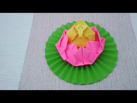 How to Make Paper Lotus Throne For Ganesh|Eco-Friendly Floral Craft for Ganpati Decoration