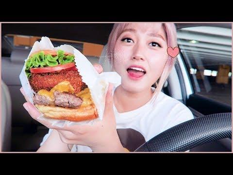 CAR MUKBANG#3 - Shake~shake~ Shake Shack Mukbang + mini haul | KEEMI★