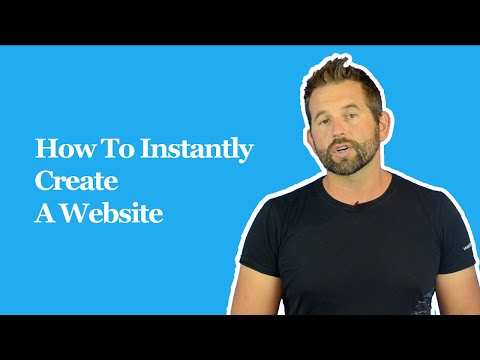 How To Instantly Create A Website