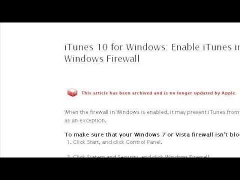 How-To Set A Windows Firewall Rule For Itunes Music Sharing