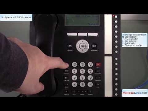 Avaya 1616 with CS540 headset - How to Install