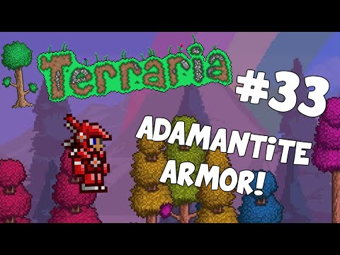 Let's Play Terraria Android Edition -Adamantite Armor!- Episode 33