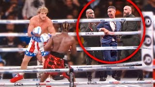 SNEAKING Into KSI Vs Logan Paul Rematch (in the ring)
