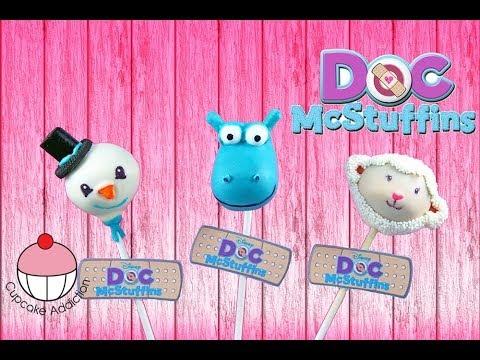 DOC MCSTUFFINS Cake Pops - Make Disney Cakepops - A Cupcake Addiction How To Tutorial