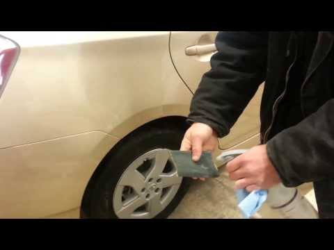 How to wets sand a run after clear coating a bumper